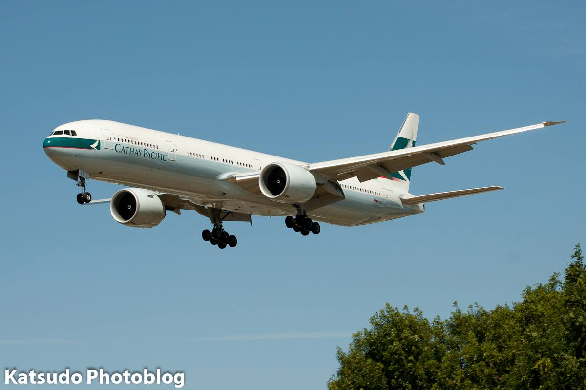 Boeing 777, Cathay Pacific, Heathrow