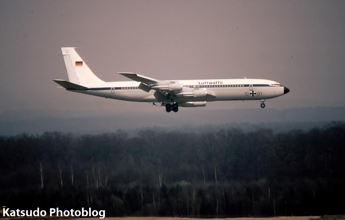 Luftwaffe Boeing B.707 at Köln - Bonn Airport where they were based.
