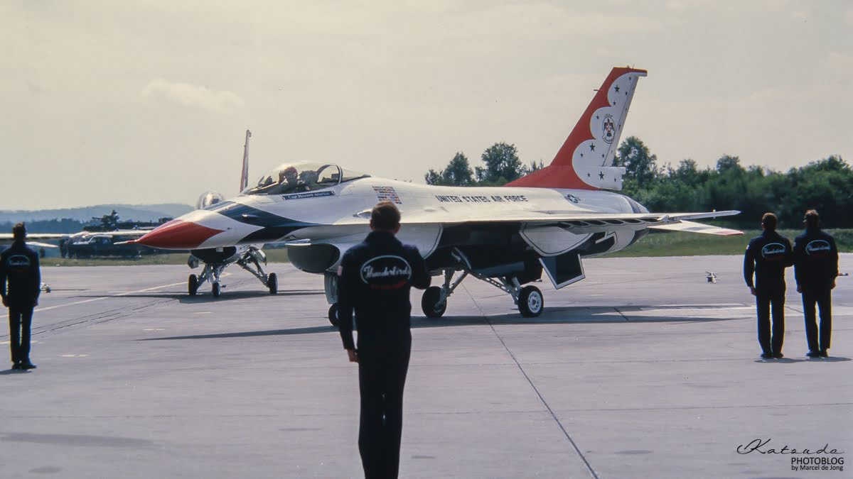 General Dynamics F-16A Fighting Falcon, US Air Force, Ramstein