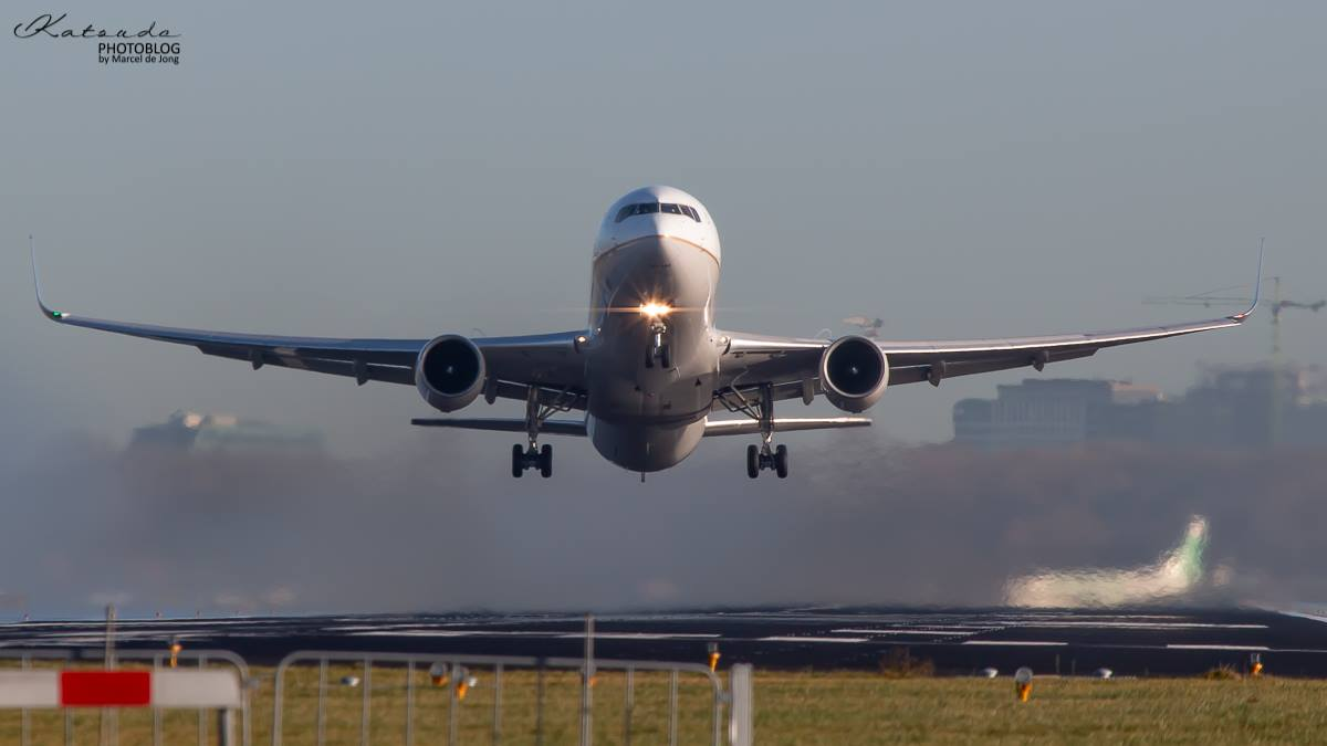 Boeing 767, United Airlines, Schiphol