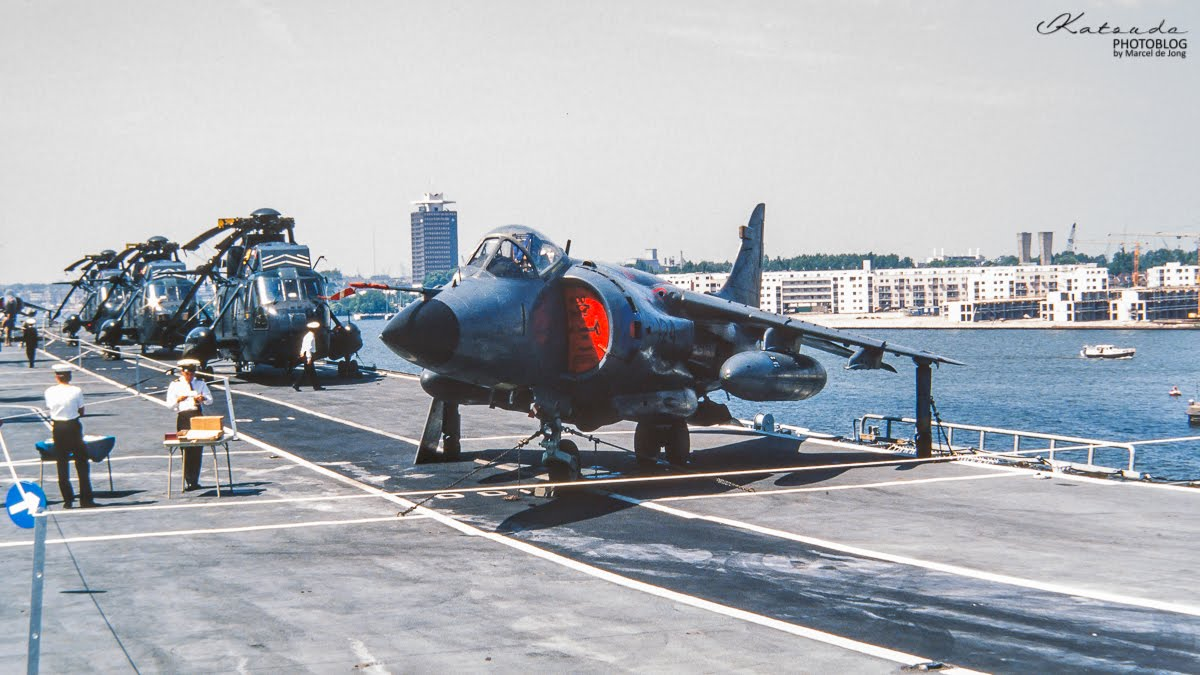 Hawker Siddeley Sea Harrier, Royal Navy, Amsterdam