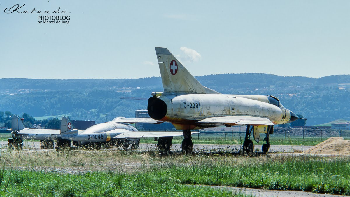 Mirage III C and Vampire FB6, Flugwaffe, Dubendorf