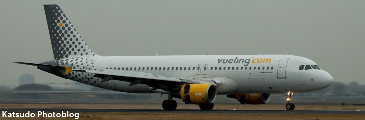 Airbus A.320, Vueling Airlines, Schiphol
