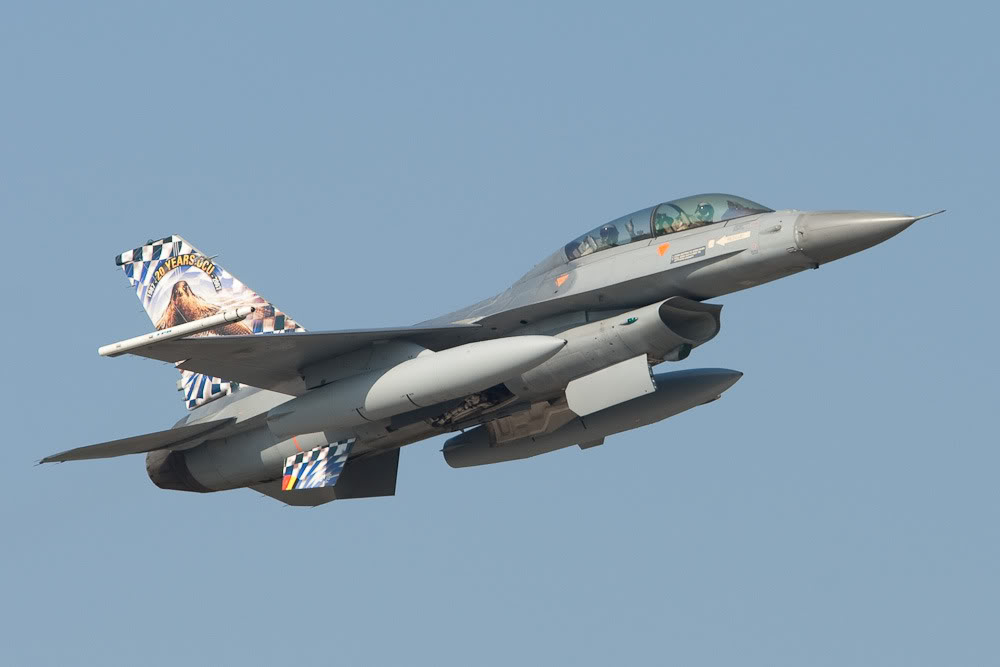 General Dynamics F-16BM Fighting Falcon, BLu, Kleine Brogel