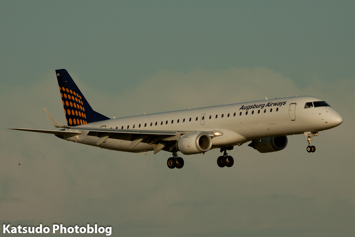 Embraer 190, Augsburg Airways, Schilhol