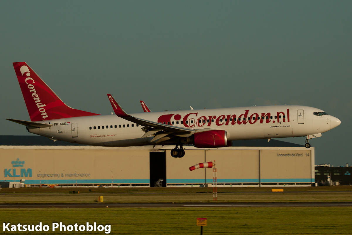 Boeing 737, Corendon Airlines, Schiphol