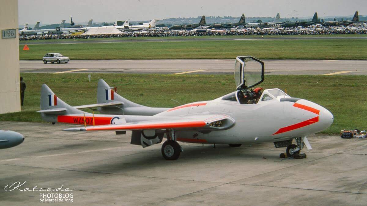 De Havilland Vampire T11, Royal Air Force, Fairford